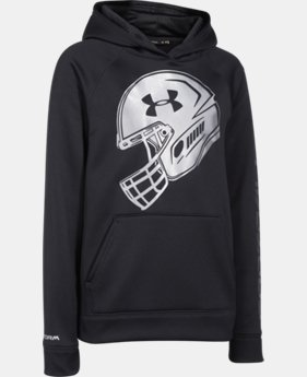 Boys' UA Storm Armour® Fleece Football Logo Hoodie  1 Color $37.99