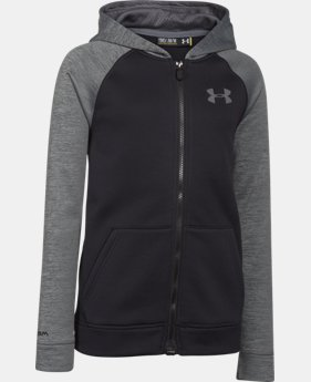 Boys' UA Storm Armour® Fleece MagZip Hoodie  3 Colors $56.99