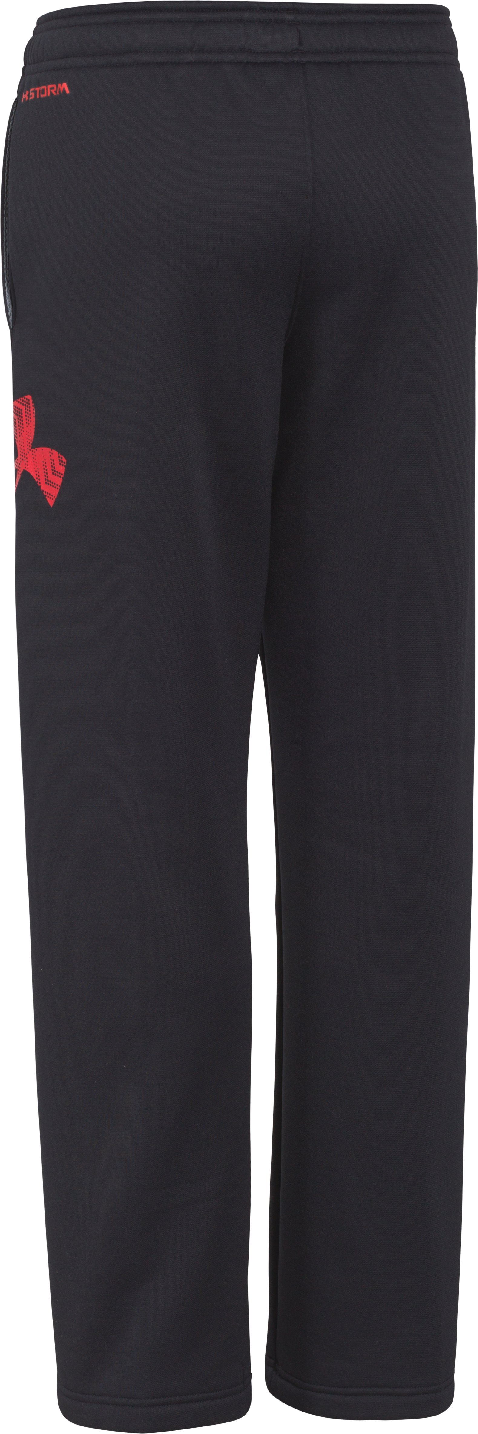 Boys' UA Storm Armour® Fleece Big Logo Pants, Black