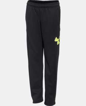 Boys' UA Storm Armour® Fleece Big Logo Pants
