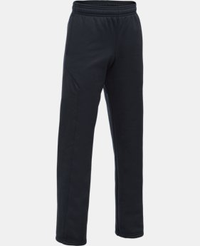 Best Seller Boys' UA Storm Armour® Fleece Big Logo Pants  4 Colors $44.99
