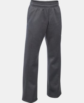 Best Seller Boys' UA Storm Armour® Fleece Big Logo Pants  3 Colors $44.99