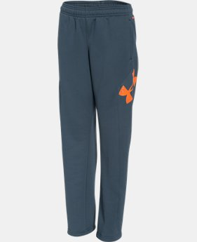 Boys' UA Storm Armour® Fleece Big Logo Pants  1 Color $26.99 to $33.99
