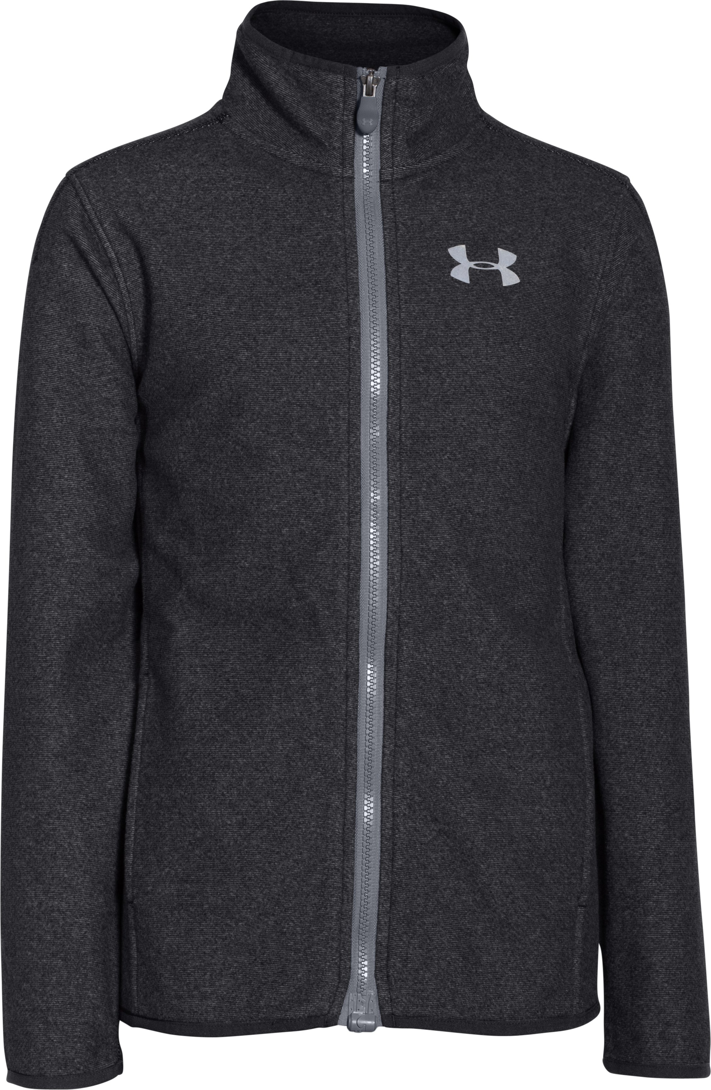 Boys' UA ColdGear® Infrared Performance Fleece Jacket, Black , undefined