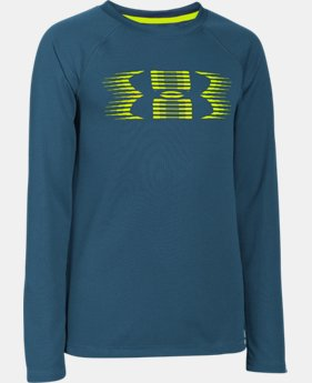 Boys' UA Waffle Long Sleeve LIMITED TIME: FREE SHIPPING 2 Colors $20.99