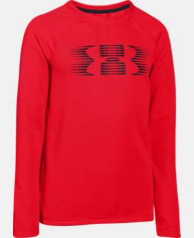 Boys' UA Waffle Long Sleeve  1 Color $20.99