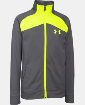 Boys' UA Brawler Warm-Up Jacket LIMITED TIME: FREE SHIPPING 1 Color $25.49