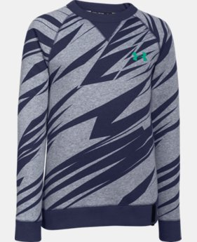 Boys' UA Rival Fleece Crew  3 Colors $17.99 to $23.99