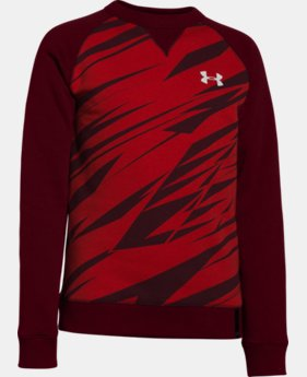 Boys' UA Rival Fleece Crew  2 Colors $17.99 to $23.99