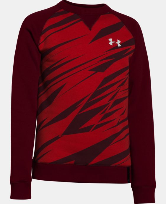 Boys' UA Rival Fleece Crew LIMITED TIME: FREE U.S. SHIPPING 1 Color $23.99 to $29.99