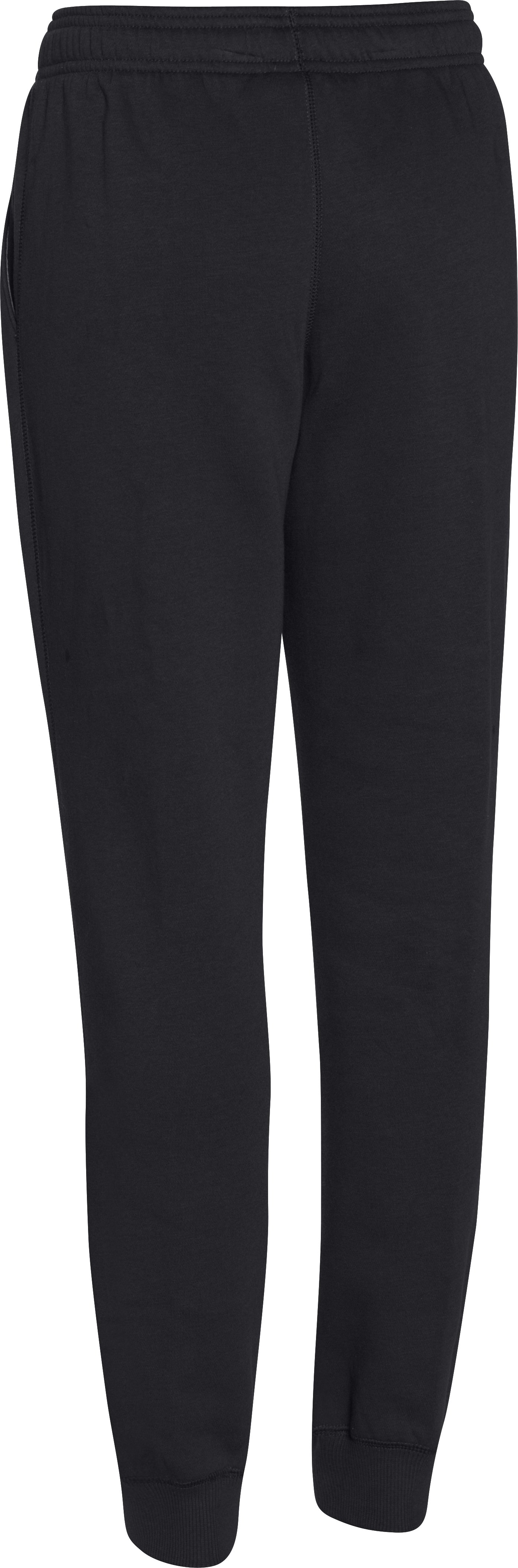 Boys' UA Rival Fleece Jogger Pants, Black , undefined