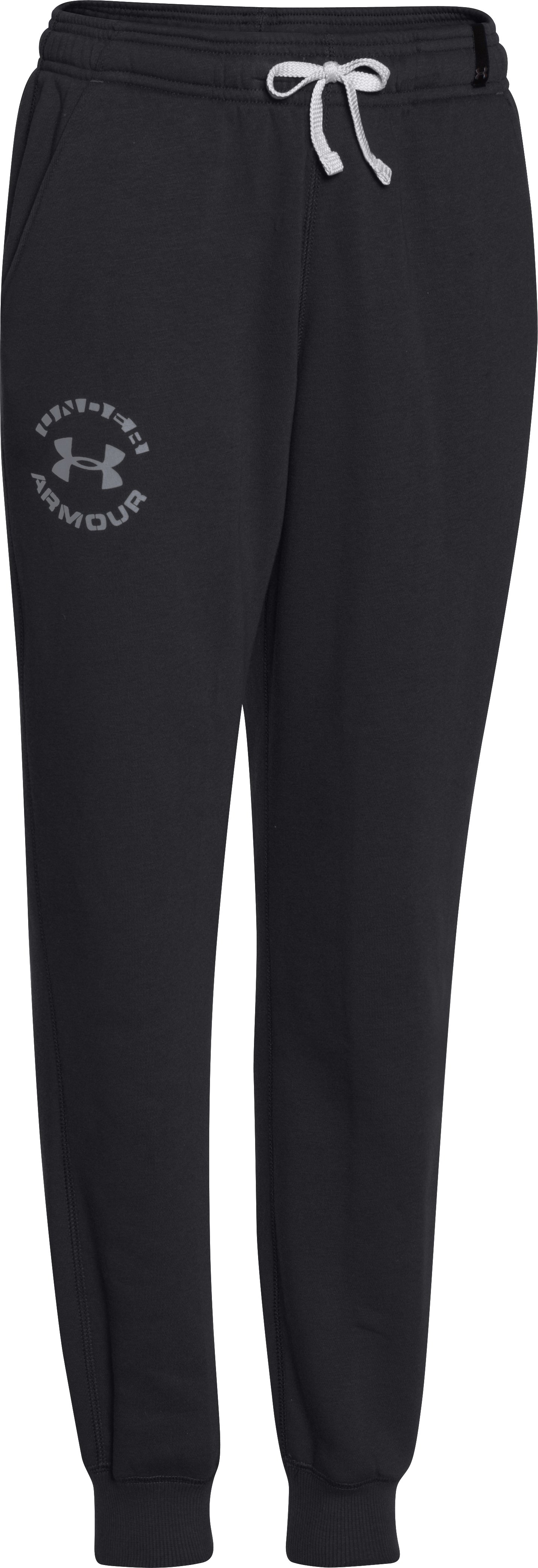 Boys' UA Rival Fleece Jogger Pants, Black