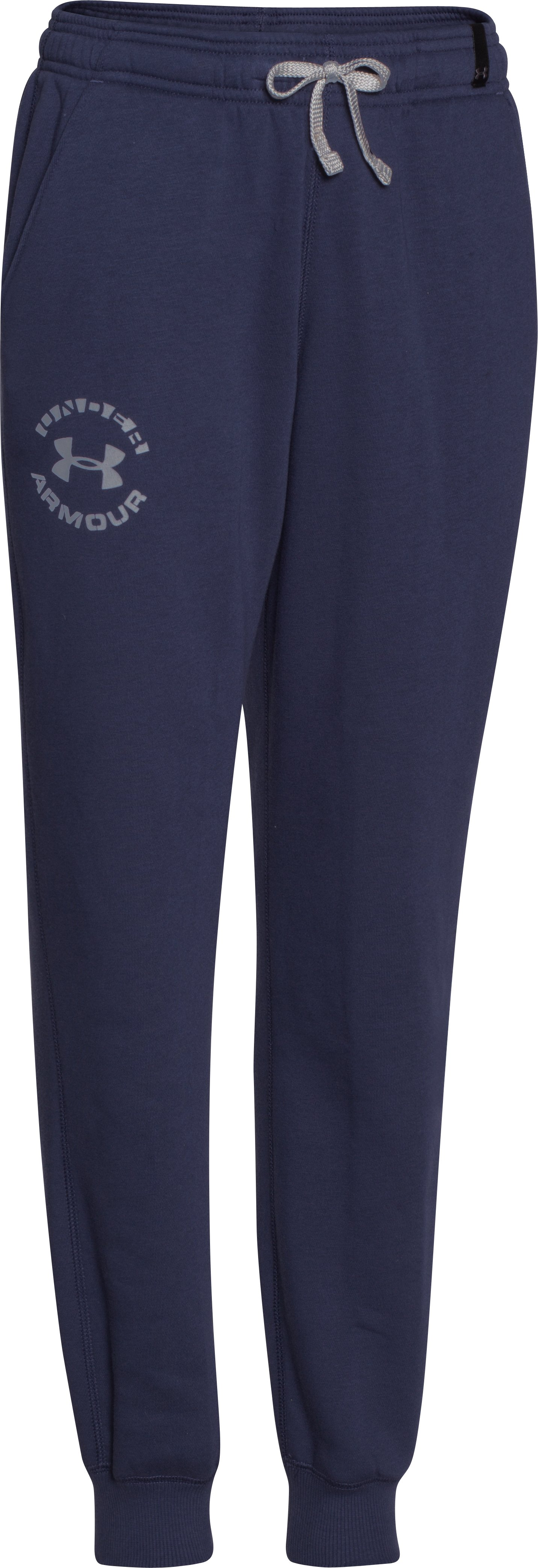 Boys' UA Rival Fleece Jogger Pants, BLUE KNIGHT, zoomed image