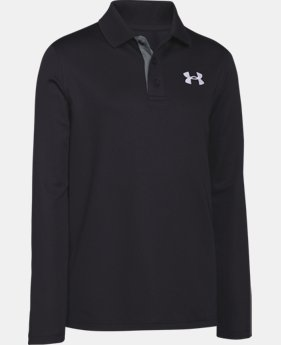 Boys' UA Match Play Long Sleeve Polo LIMITED TIME: FREE SHIPPING 1 Color $26.99 to $44.99