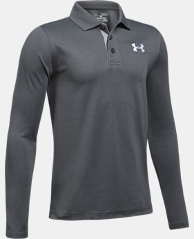 New Arrival  Boys' UA Match Play Long Sleeve Polo  2 Colors $44.99