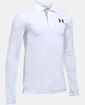 Boys' UA Match Play Long Sleeve Polo LIMITED TIME: FREE SHIPPING 1 Color $39.99