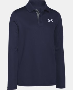 New Arrival  Boys' UA Match Play Long Sleeve Polo LIMITED TIME: FREE SHIPPING 1 Color $44.99