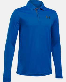 Boys' UA Match Play Long Sleeve Polo LIMITED TIME: FREE SHIPPING 2 Colors $39.99