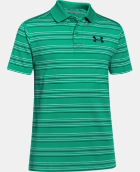 Boys' UA Tempo Striped Polo  2 Colors $29.99
