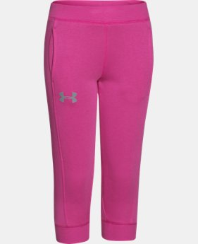 Girls' UA Rival Fleece Capri   $20.99