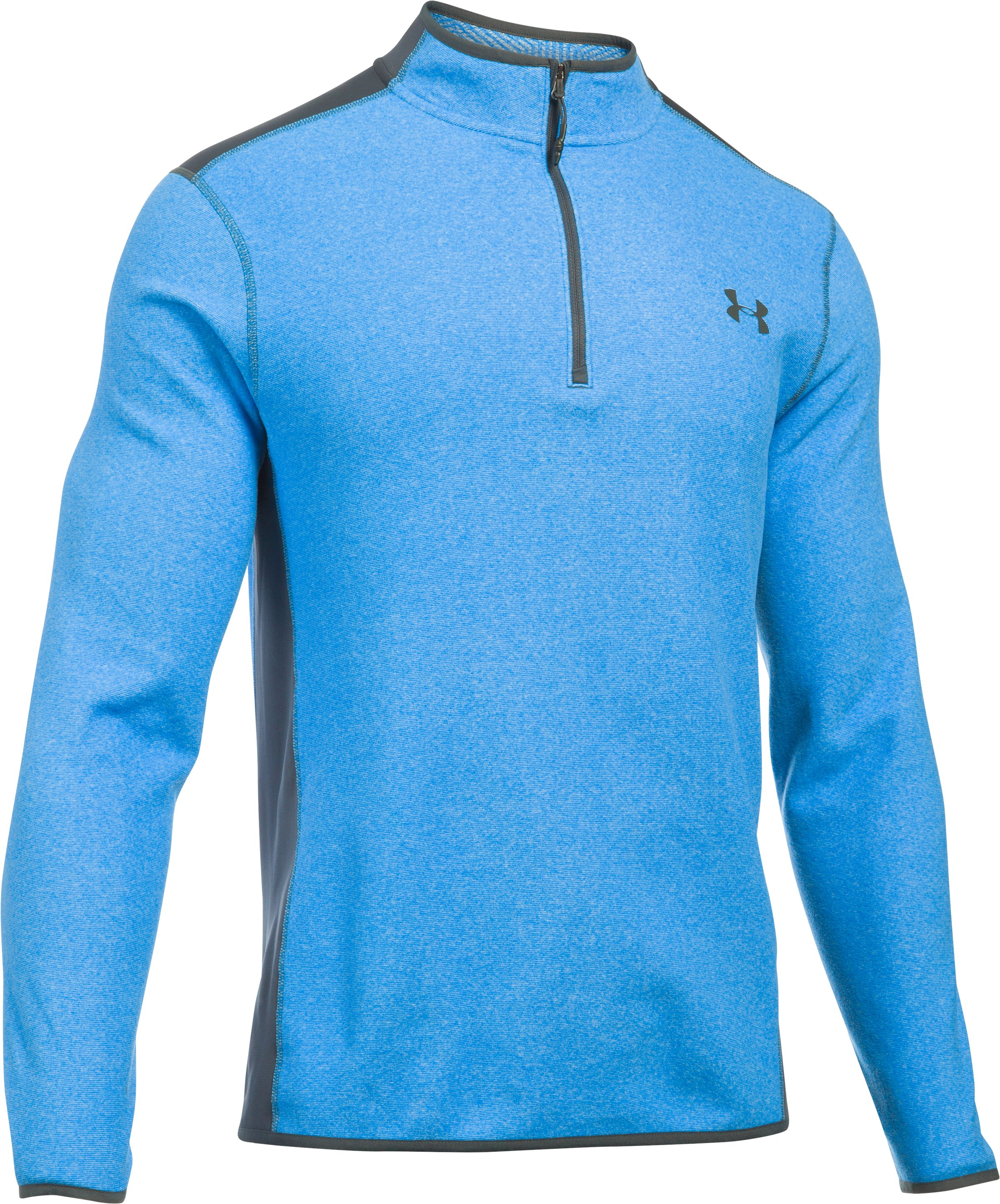 Men's UA ColdGear Infrared® Fleece ¼ Zip, BRILLIANT BLUE, undefined