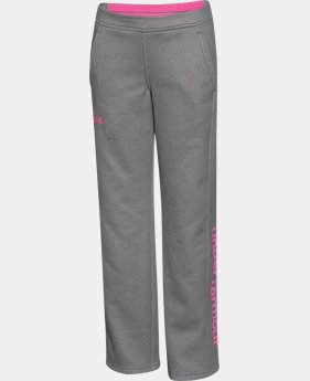 Girls' UA Armour® Fleece Pants  1 Color $33.99