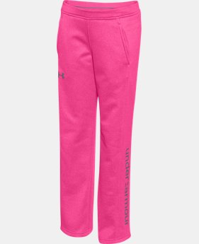 New to Outlet Girls' UA Armour® Fleece Pants LIMITED TIME OFFER + FREE U.S. SHIPPING 1 Color $25.49 to $31.99