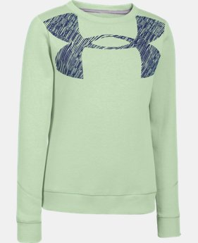 New to Outlet Girls' UA Rival Graphic Crew  1 Color $20.24