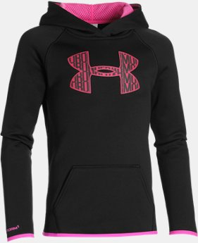 Girls' UA Armour® Fleece Big Logo Hoodie  3 Colors $26.99 to $33.99