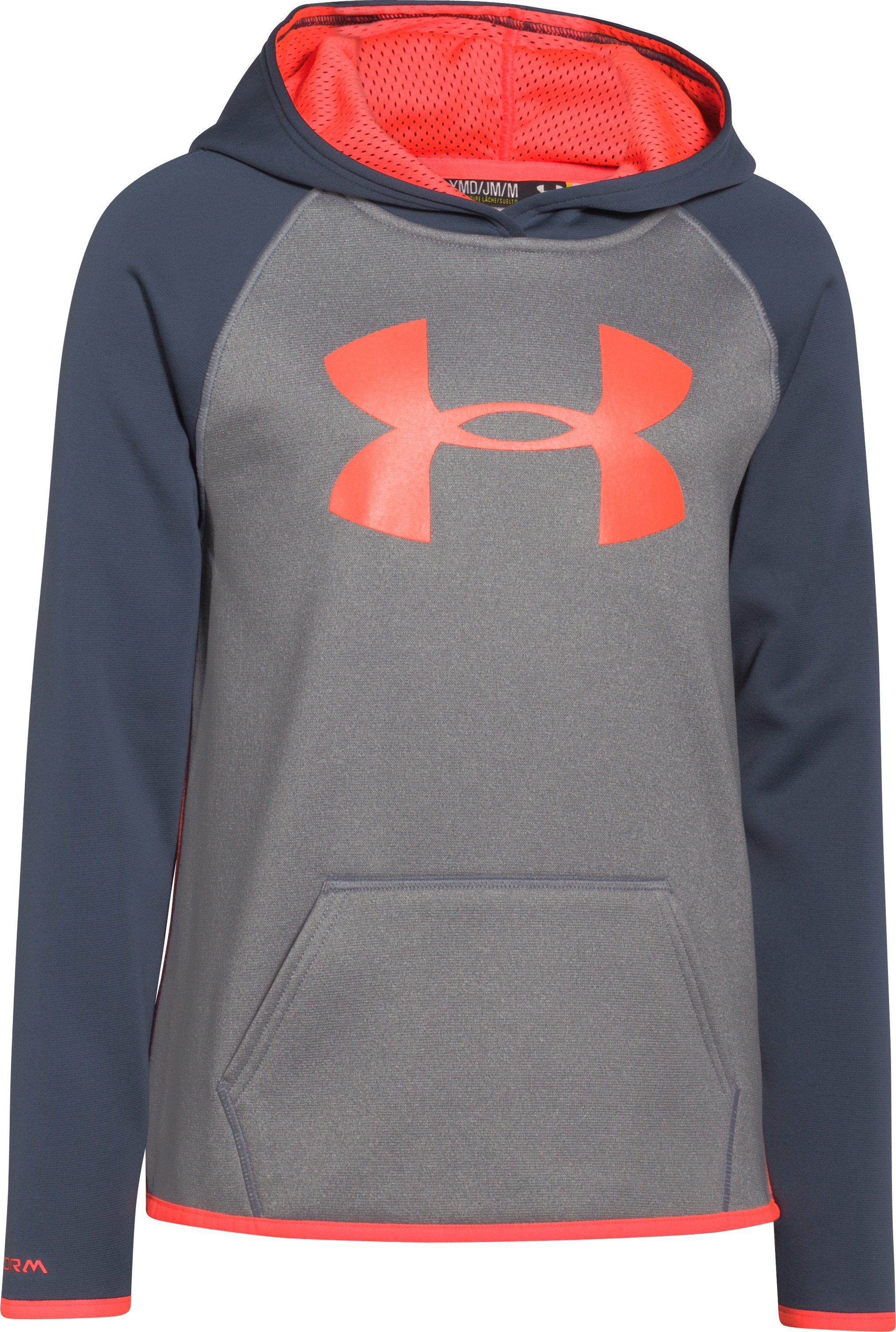 Girls' Armour Fleece® Big Logo Hoodie, True Gray Heather, undefined