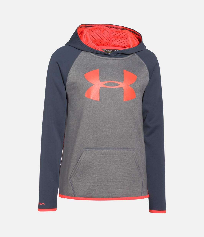 Girls' UA Armour® Fleece Big Logo Hoodie   Under Armour US