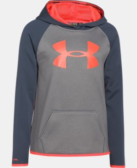 Girls' UA Armour® Fleece Big Logo Hoodie  1 Color $26.99 to $33.99