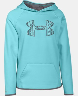 Girls' UA Armour® Fleece Big Logo Hoodie  2 Colors $25.49 to $33.99