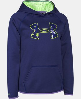 Girls' UA Armour® Fleece Big Logo Hoodie   $26.99 to $33.99