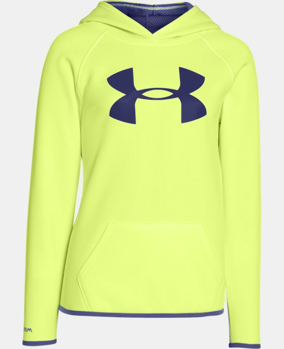 Girls' UA Armour® Fleece Big Logo Hoodie LIMITED TIME OFFER + FREE U.S. SHIPPING 1 Color $25.49 to $33.99