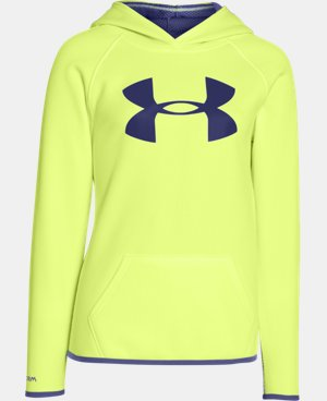 Girls' UA Armour® Fleece Big Logo Hoodie LIMITED TIME: FREE U.S. SHIPPING 1 Color $25.49 to $33.99