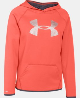 Girls' UA Armour® Fleece Big Logo Hoodie  2 Colors $26.99 to $33.99