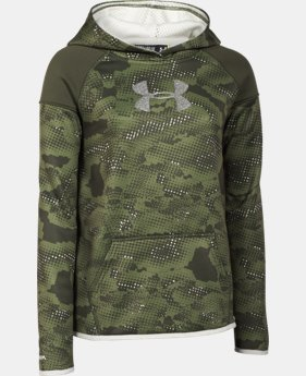Girls' UA Armour® Fleece Novelty Big Logo Hoodie  1 Color $37.99