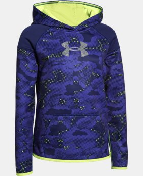 Girls' UA Armour® Fleece Novelty Big Logo Hoodie   $41.99