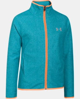 Girls' UA ColdGear® Infrared Fleece Full Zip  2 Colors $53.99