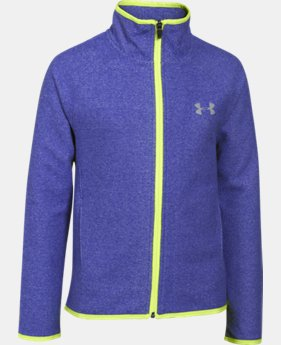 Girls' UA ColdGear® Infrared Fleece Full Zip  3 Colors $53.99