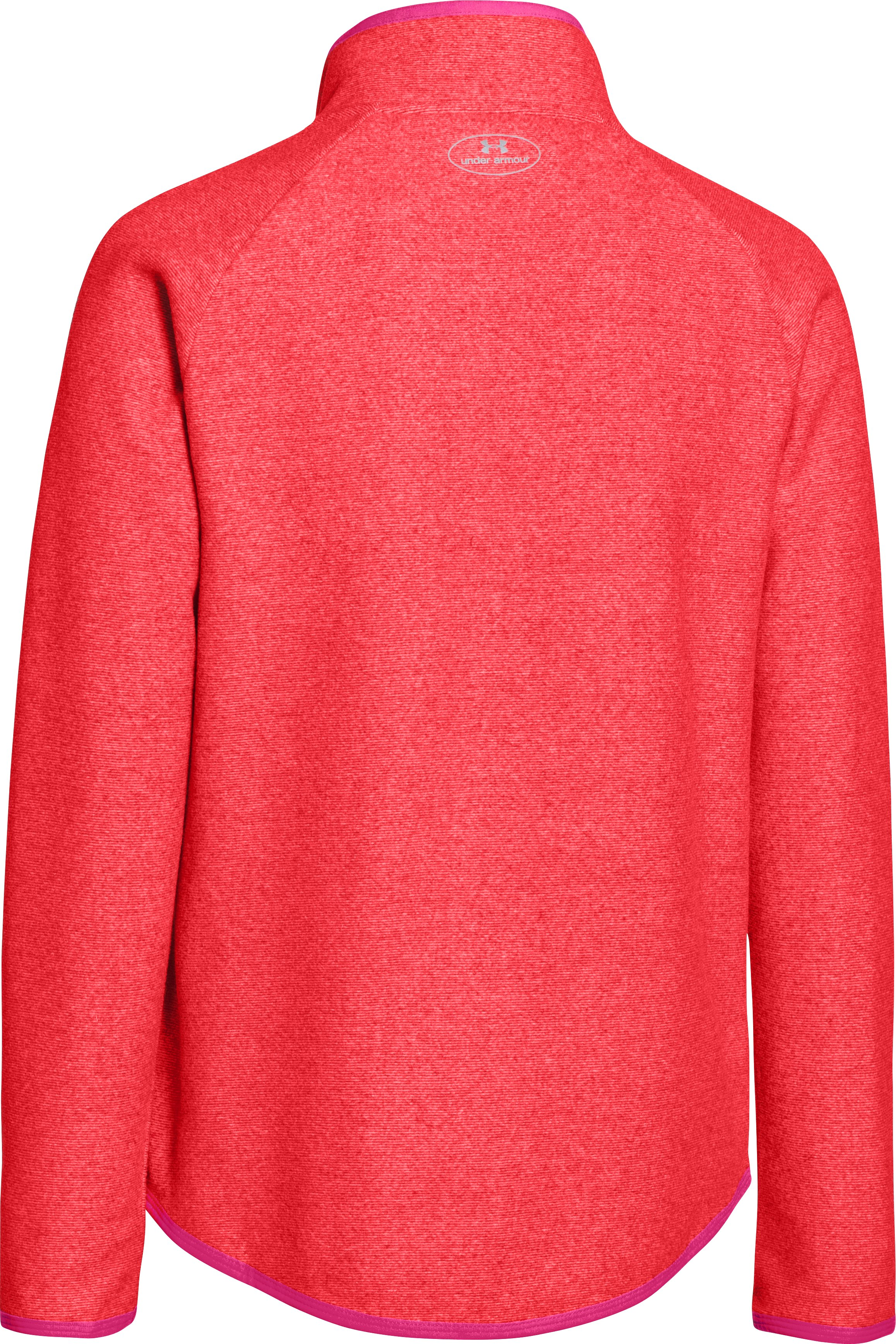 Girls' UA ColdGear® Infrared Fleece Full Zip, Pomegranate