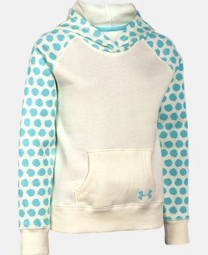 Girls' UA Rival Printed Fleece Hoodie LIMITED TIME: FREE U.S. SHIPPING 1 Color $23.99 to $29.99