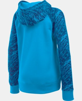 Girls' UA Rival Printed Fleece Hoodie   $23.99