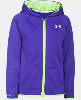 Girls' UA Storm Armour® Fleece Full Zip Hoodie LIMITED TIME OFFER + FREE U.S. SHIPPING  $38.99 to $48.99