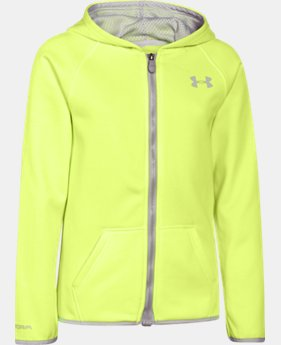 Girls' UA Storm Armour® Fleece Full Zip Hoodie  1 Color $36.74