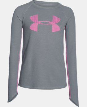 Girls' UA Waffle Long Sleeve  1 Color $17.99