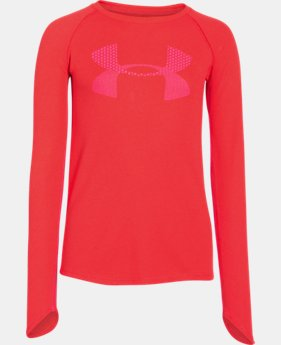 Girls' UA Waffle Long Sleeve  2 Colors $17.99