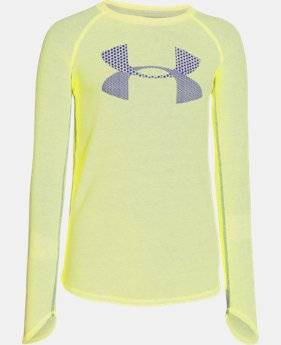 Girls' UA Waffle Long Sleeve LIMITED TIME: FREE U.S. SHIPPING 1 Color $17.24 to $22.99