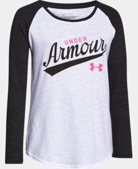 Girls' UA Impulse Charged Cotton® Tri-Blend Script Long Sleeve  1 Color $16.99